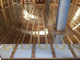 床暖房工事のイメージ